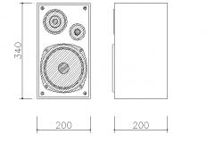 Bass speaker front details