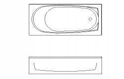 Bath tub details dwg file