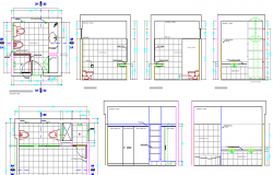 Bathroom Architecture Design and Section Plan dwg file
