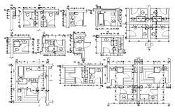 Bathroom Design 2d AutoCAD Drawing download