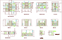 Bathroom Design view with plan and sectional view dwg file
