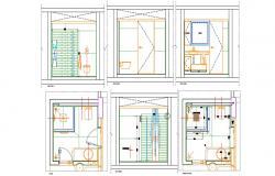 Bathroom Interior Design CAD Drawing Download