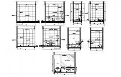 Bathroom Section Plan DWG File