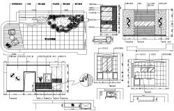 Bathroom With Open Space CAD Drawing
