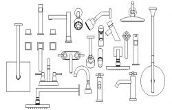Bathroom accessories blocks in dwg file