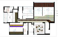 Bathroom and house ceiling design plan cad drawing details dwg file