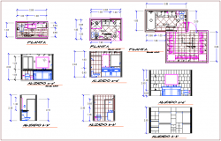 Bathroom and toilet plan and sectional view dwg file