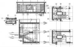 Bathroom design and staircase plan Free DWG file download