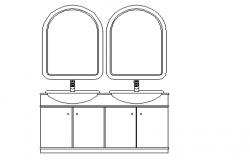 Bathroom dressing unit 2d elevation
