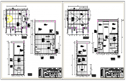 Bathroom dry wall finishes level design drawing
