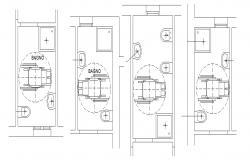 Bathroom layout in dwg file