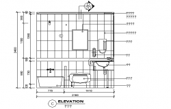 Bathroom plumbing sectional details