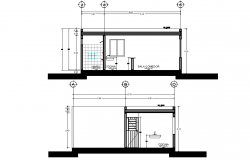 Bathroom section plan layout file