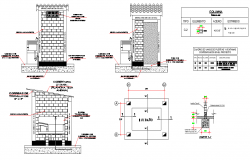 Bathroom with store plan and section layout file