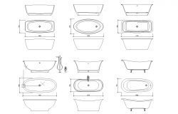 Bathtub plan detail dwg.