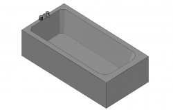 Bathtub top view 3d detail