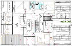Beach House Architecture Design and Structure Details dwg file