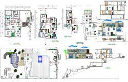 Beach House Project detail dwg file