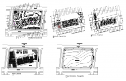 Beach hotel detail plan 2d view autocad file