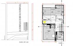 Beach house plan autocad file