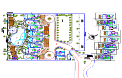 Beach house plan detail dwg file