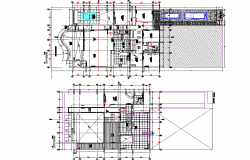 Beach house planning detail dwg file