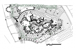 Beach park detail 2d view layout autocad file