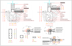 Beam Column and foundation detail dwg file