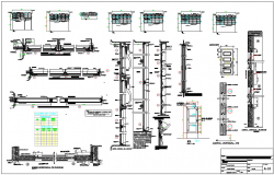 Beam and column elevation detail dwg file