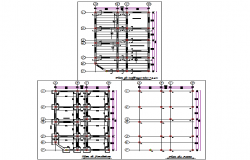 Beam and column plan layout file
