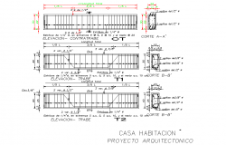 Beam and column section plan detail layout file