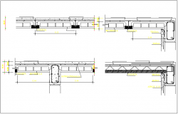 Beam and slab connection detail dwg file