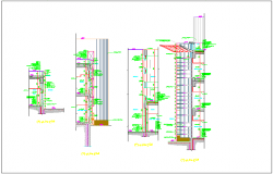 Beam column chhaja balcony detail dwg file