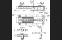 Beam construction and structure cad drawing details dwg file