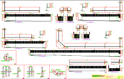 Beam construction details of apartment residential building dwg file