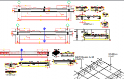 Beam construction details of housing building dwg file