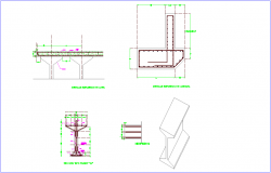 Beam design view with isometric view dwg file