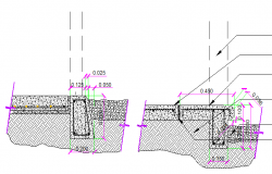 Beam details with foundation of house dwg file
