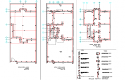 Beam plan and door elevation autocad file