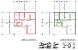 Beam plan and section autocad file