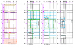 Beam plan and section plan autocad file
