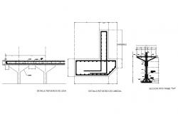 Beam section and constructive structure details dwg file