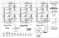 Beam section and plan detail dwg file