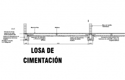 Beam section plan detail