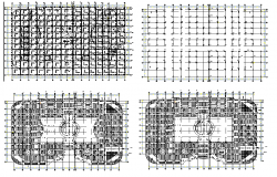 Beam section plan detail dwg file
