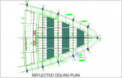 Beam view of ceiling plan dwg file