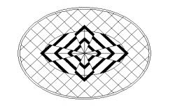 Beautiful elliptical top view design