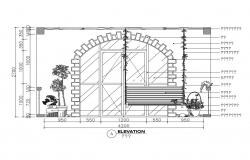 Beautiful outdoor balcony elevation details of house cad drawing details dwg file