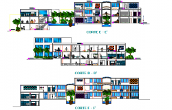 Beauty clinic section detail dwg file