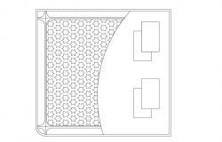 Bed CAD Block Free Download